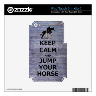 Keep Calm Jump Your Horse Skins For iPod Touch 4G