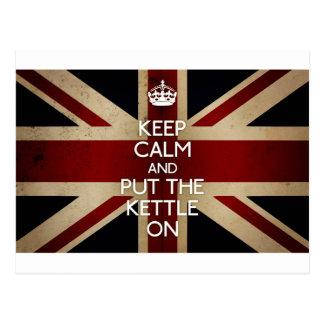 Keep Calm (kettle on) Postcard