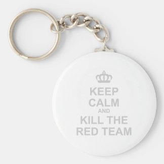 Keep Calm & Kill The Red Team - Gamer Geek Shoot Basic Round Button Keychain