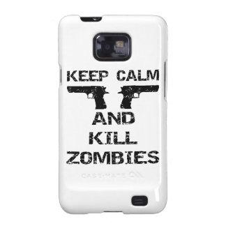 Keep Calm & Kill Zombies Galaxy S2 Cover
