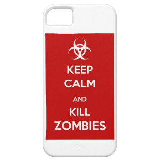 keep calm kill zombies iPhone SE/5/5s case