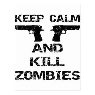 Keep Calm & Kill Zombies Postcards