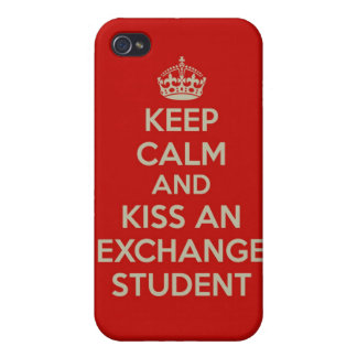 Keep Calm...Kiss an Exchange Student iPhone 4 Case