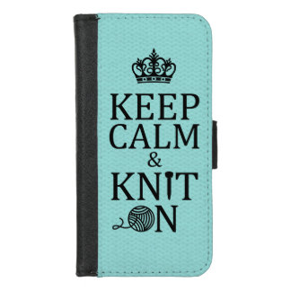 Keep Calm Knit On Crafts 2017 iPhone 8/7 Wallet Case