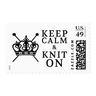 Keep Calm Knit On Crafts / Crown Logo Postage