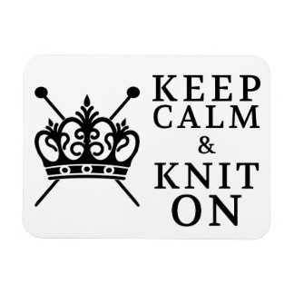 Keep Calm Knit On Magnet