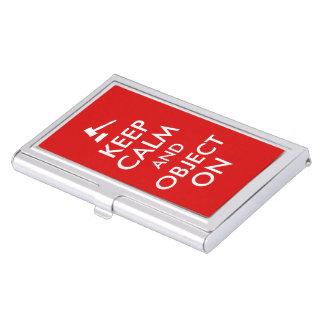 Keep Calm Law Business Cards Holder Gavel Custom Business Card Holder