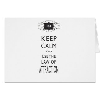 Keep Calm Law of Attraction Design Card