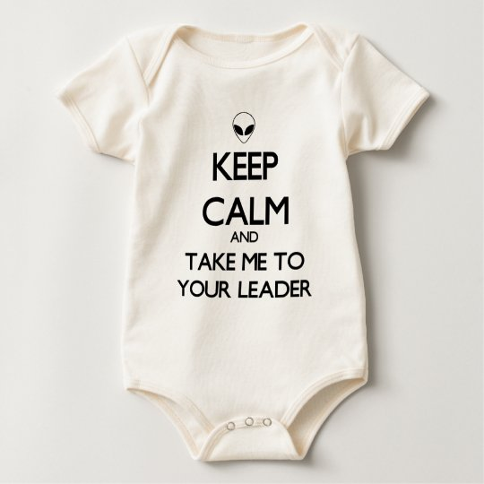 Keep Calm Leader Baby Bodysuit