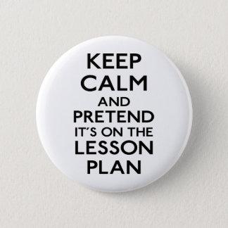 Keep Calm Lesson Plan Button
