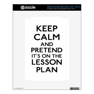 Keep Calm Lesson Plan Decal For NOOK