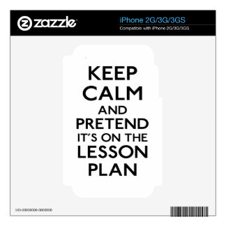 Keep Calm Lesson Plan Decals For The iPhone 3GS