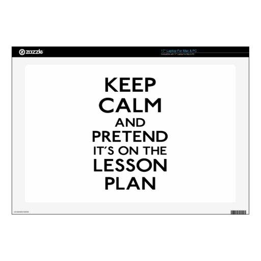 Keep Calm Lesson Plan Laptop Decals