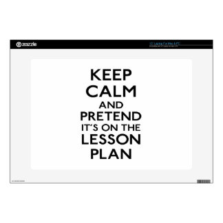 Keep Calm Lesson Plan Laptop Skins