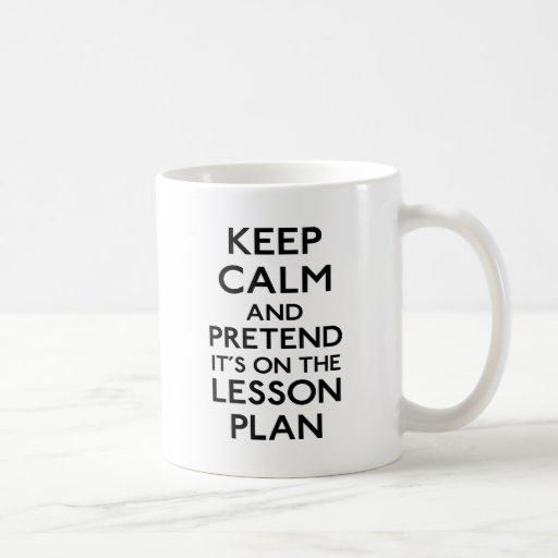 Keep Calm Lesson Plan Mug