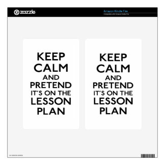 Keep Calm Lesson Plan Skin For Kindle Fire