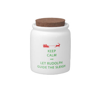 Keep Calm Let Guide The Sleigh Candy Jars