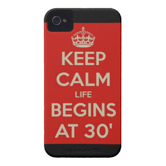 Keep calm life begins at 30 iPhone 4 cover