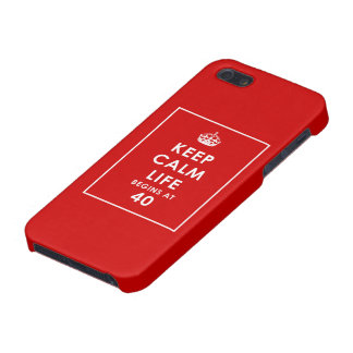Keep Calm Life begins at 40 iPhone 5 Case