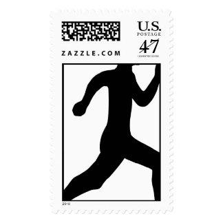 Keep Calm Lift Lifting Train Weight Run Jog Gym PT Stamp