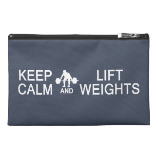 Keep Calm & Lift Weights custom accessory bags