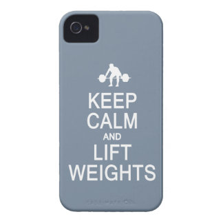 Keep Calm & Lift Weights custom Blackberry case