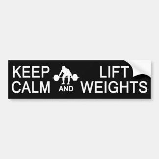 Keep Calm & Lift Weights custom bumpersticker Bumper Sticker