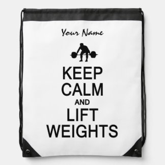 Keep Calm & Lift Weights custom color bag
