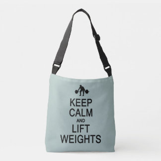 Keep Calm & Lift Weights custom color bags