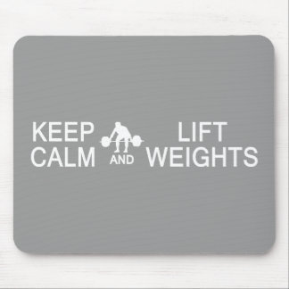 Keep Calm & Lift Weights custom color mousepad