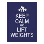 Keep Calm & Lift Weights custom color poster