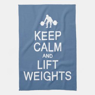Keep Calm & Lift Weights custom color towel