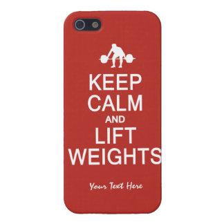 Keep Calm & Lift Weights custom iPhone cases