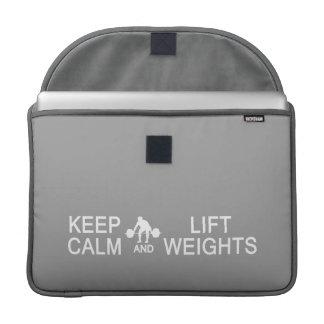 Keep Calm & Lift Weights custom MacBook sleeve Sleeves For MacBook Pro