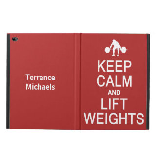 Keep Calm & Lift Weights custom name & color cases Powis iPad Air 2 Case
