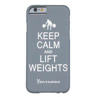 Keep Calm & Lift Weights custom phone cases