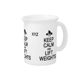 Keep Calm & Lift Weights custom pitcher