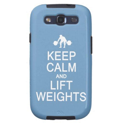 Keep Calm & Lift Weights custom Samsung case Galaxy SIII Cases
