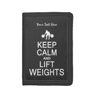 Keep Calm & Lift Weights custom wallets