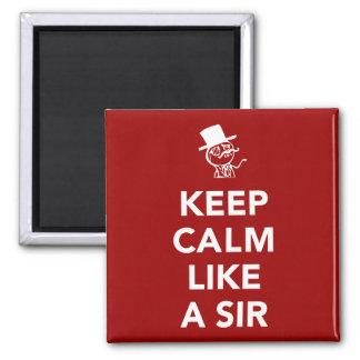 Keep Calm Like A Sir 2 Inch Square Magnet
