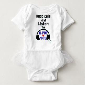 ♪♥Keep Calm & Listen to KPop Baby Bodysuit♥♫ Baby Bodysuit
