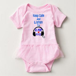 ♪♥Keep Calm & Listen to KPop Baby Tutu Bodysuit♥♫ Baby Bodysuit