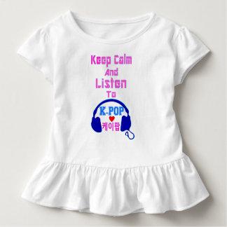 ♪♥Keep Calm & Listen to KPop Toddler Ruffle Tee♥♫ Toddler T-shirt