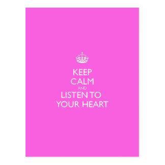 Keep Calm & Listen To Your Heart Postcard