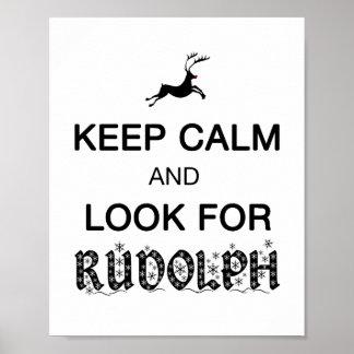 Keep Calm, Look for Rudolph print
