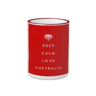 Keep Calm Love Australia Mug