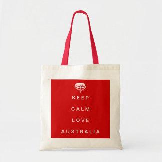 Keep Calm Love Australia tote bag