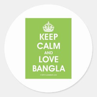 Keep Calm & Love Bangla by Lovedesh.com Classic Round Sticker