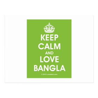 Keep Calm & Love Bangla by Lovedesh.com Postcard