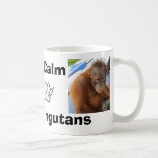 Keep Calm Love Cute Orangutan Baby Coffee Mug